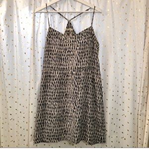Madewell Paint pattern crisscrossed strappy Dress